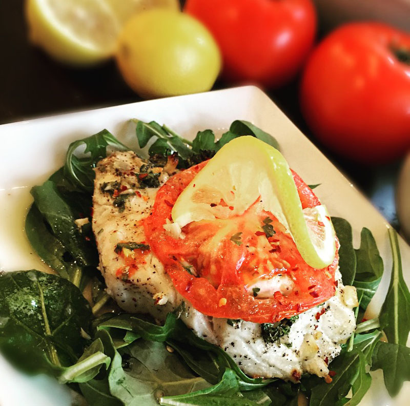 Baked Mediterranean Cod - Thyme with Catherine