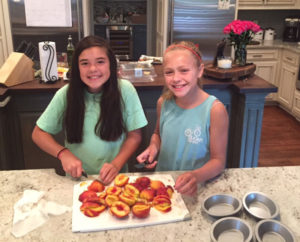 Baked Peaches with Sugar Crisp - Thyme with Catherine