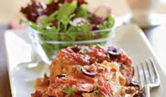 Chicken Thighs with Tomatoes and Shrimp