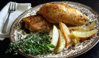 Dad's Roasted Greek Chicken and Potatoes - Thyme with Catherine