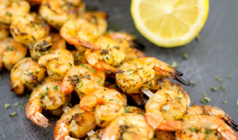 Greek Grilled Shrimp - Thyme with Catherine