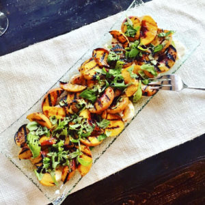 Grilled Peach Caprese Salad (3)