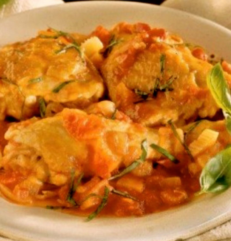 Kokkinisto Greek Chicken In Red Sauce
