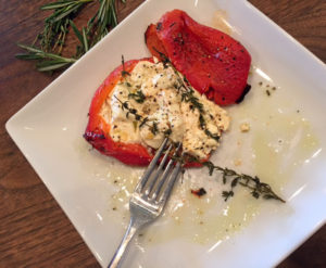 Roasted Peppers with Feta - Thyme with Catherine