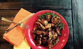 Rosemary Lemon Wings - Thyme with Catherine