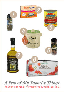 Thyme with Catherine Pantry Favorites