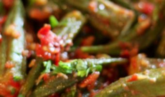 Tomatoes and Okra - Thyme with Catherine