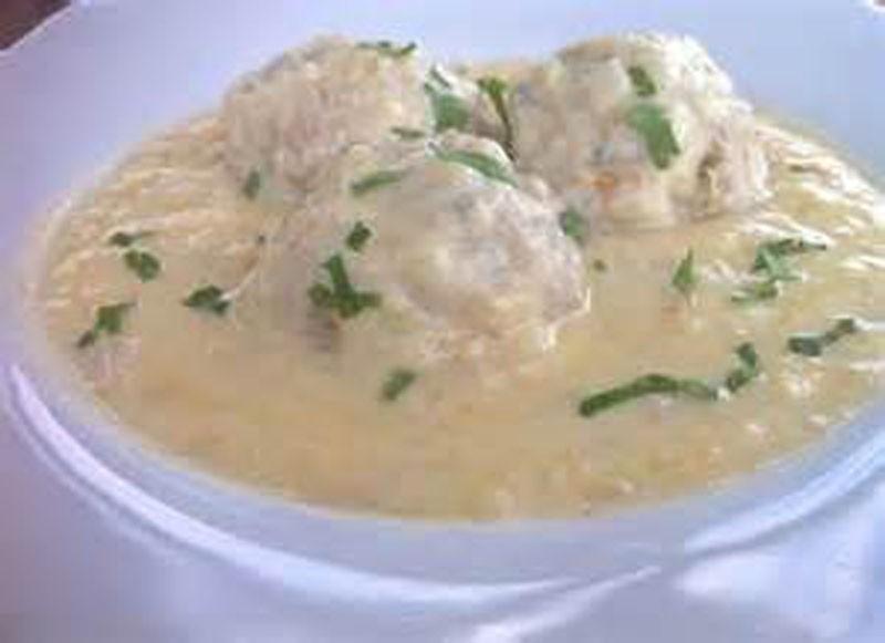 Youvarlakia Greek Meatball Soup - Thyme with Catherine