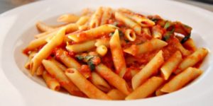 Spicy Parmesan-Infused Red Sauce with Penne Pasta